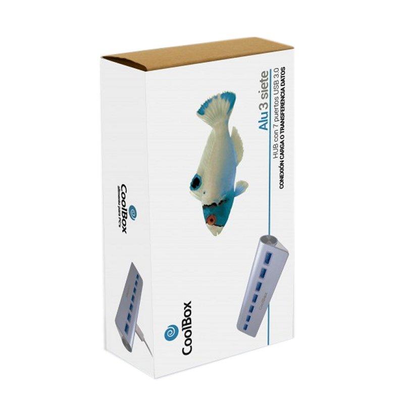 Coolbox HUB ALU-3 7 PUERTOS USB3.0