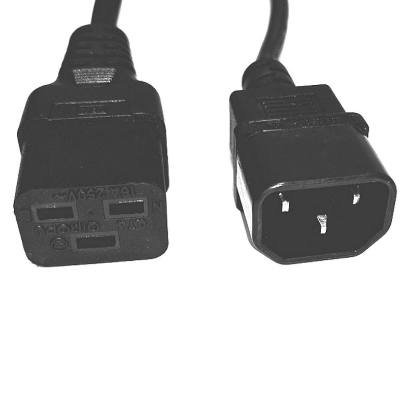 Salicru Cable salida IEC C14/C19 1,8m 10A