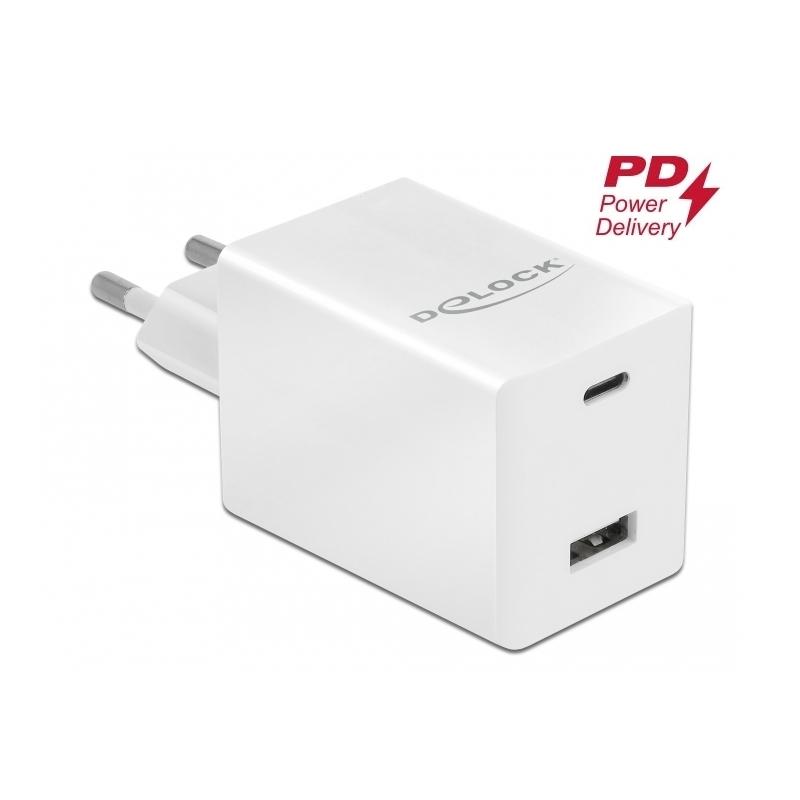 Delock Cargador de USB Type -CT PD 3.0 y USB A