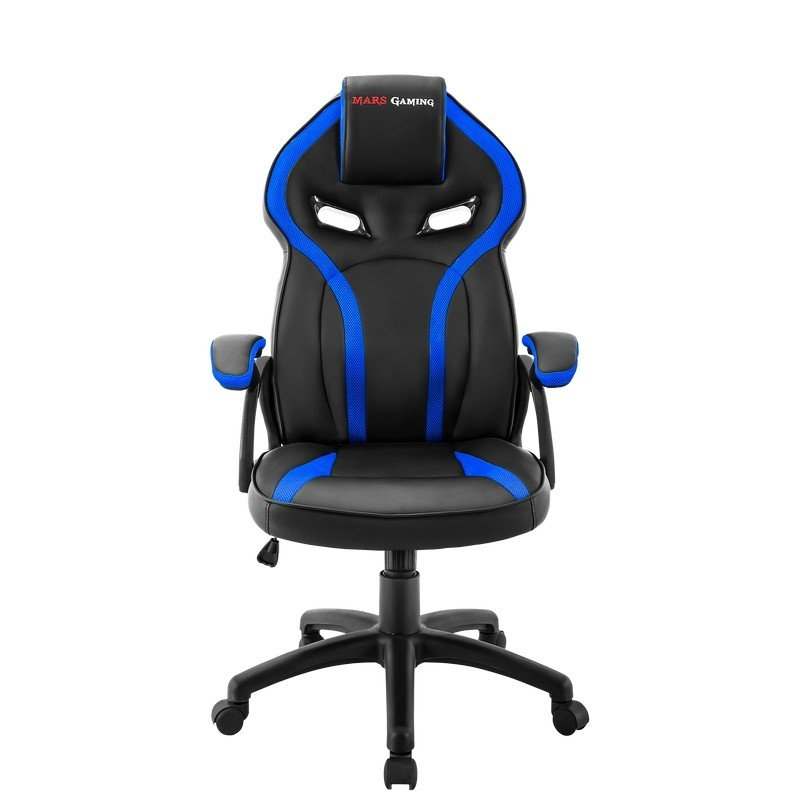 Mars Gaming Silla MGC118 Negra/Azul GAS-LIFT CL4