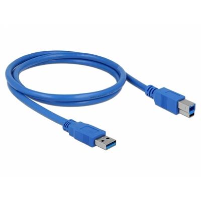 DELOCK CABLE USB3.0 TIPO A-B MACHO/MACHO 1M AZUL
