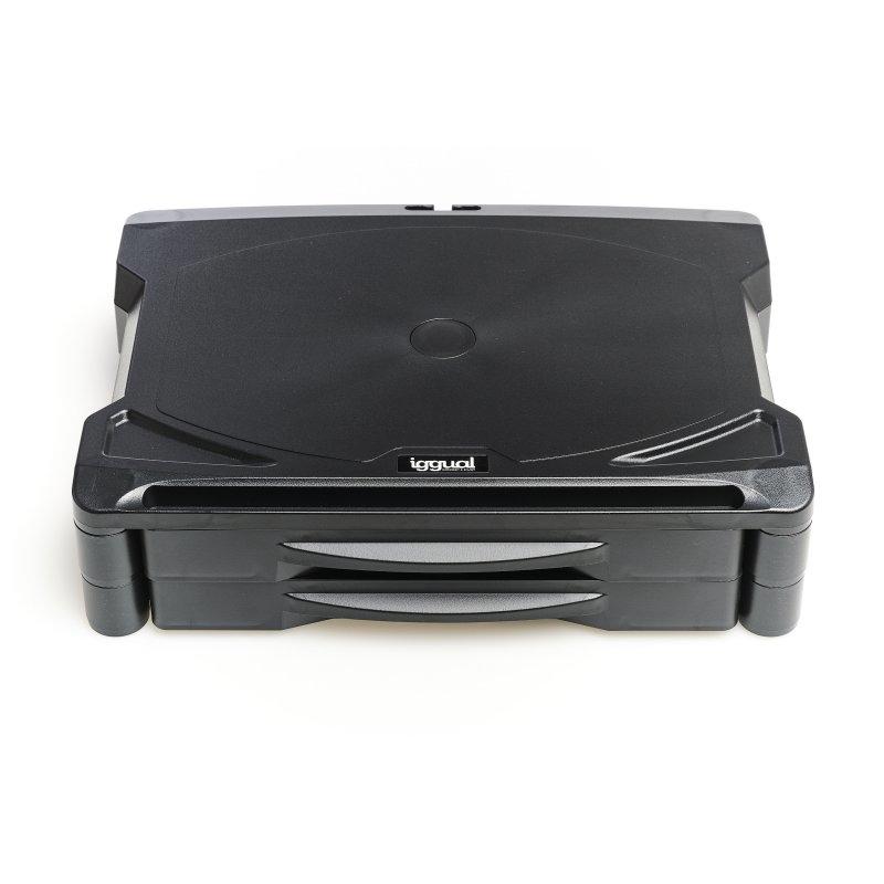 iggual EM2 - Elevador monitor escritorio 2 cajones