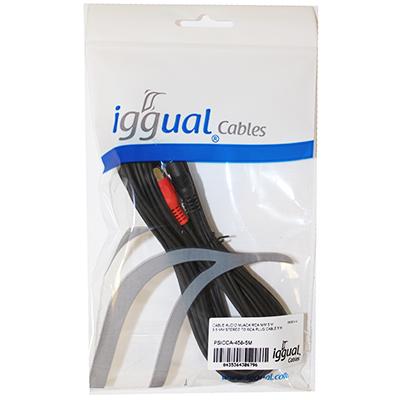 iggual Cable Audio MJACK RCA M/M 5 Mts