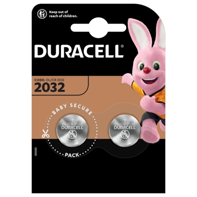 DURACELL PILA BOTON LITIO CR2032 3V BLISTER2