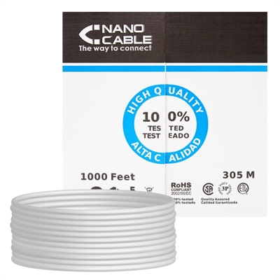 Bobina Cable RJ45 CAT5 FTP Rigido 305Mts