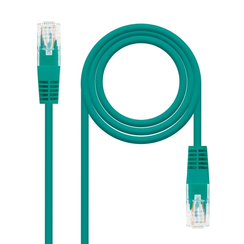 LATIGUILLO RJ45 Categoria 6 UTP VERDE, 1 Metros