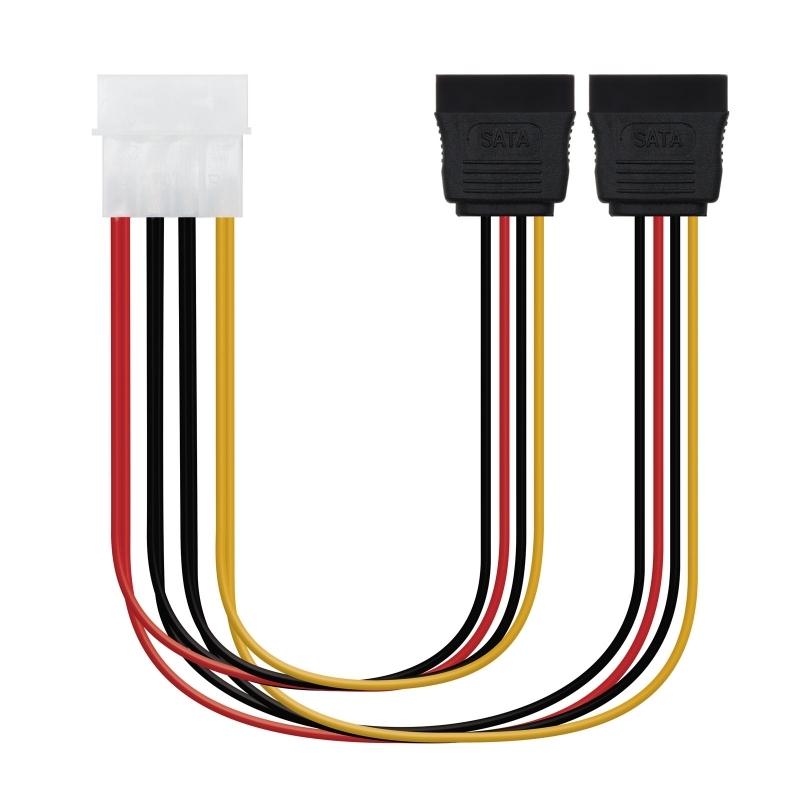 Cable SATA Alimentación 5.25
