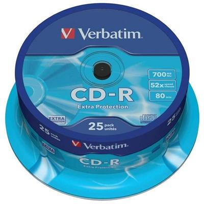 Verbatim CD-R 700MB 52x Tarrina 25Uds