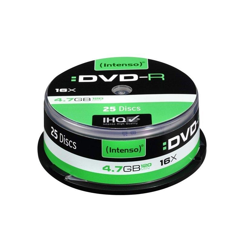 Intenso DVD-R 4.7GB 16x Tarrina 25Uds