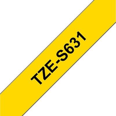 Brother TZES631 cinta adhesiva 12mm Ama./Neg.