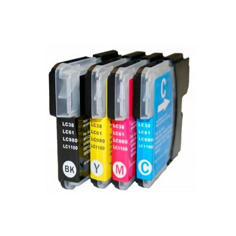 INKOEM Cartucho Compatible Brother LC980XL/1100XLC