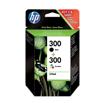 HP Multipack 1x300 Negro + 1x300 Color CN637