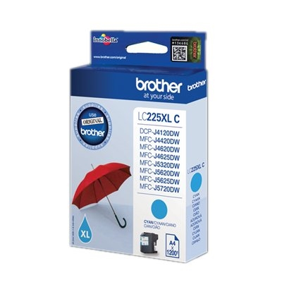 Brother Cartucho LC225XLCB CIAN DCP4120DW 1200 Pg.