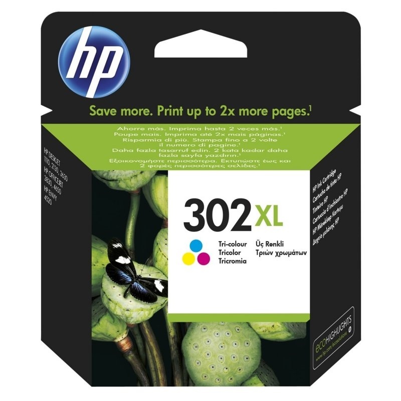 HP 302XL F6U67AE cartucho color Officejet 3830