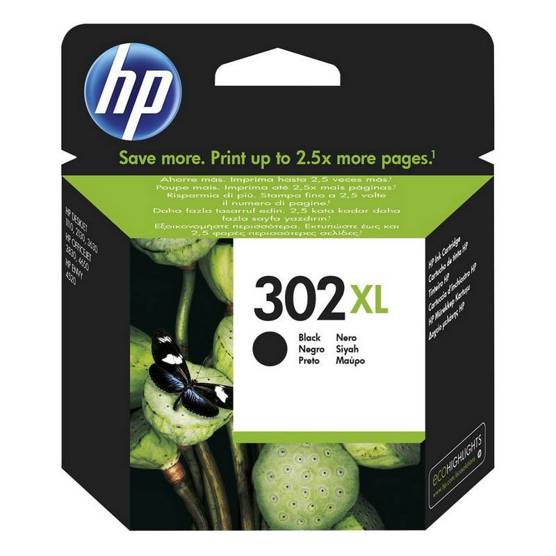 HP 302XL F6U68AE cartucho negro Officejet 3830