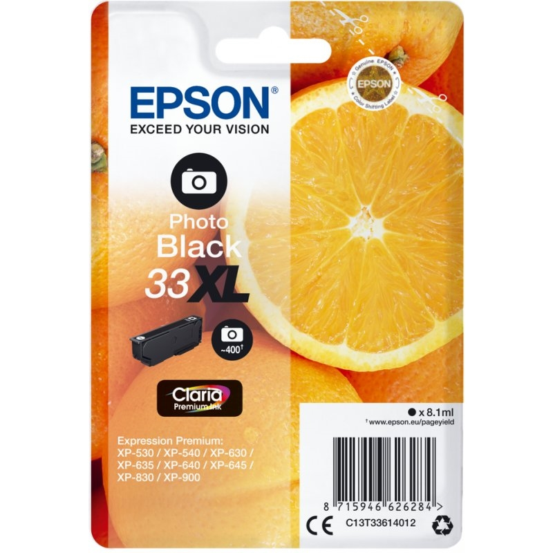 Epson Cartucho T3361XL Negro Foto 8,1 ml