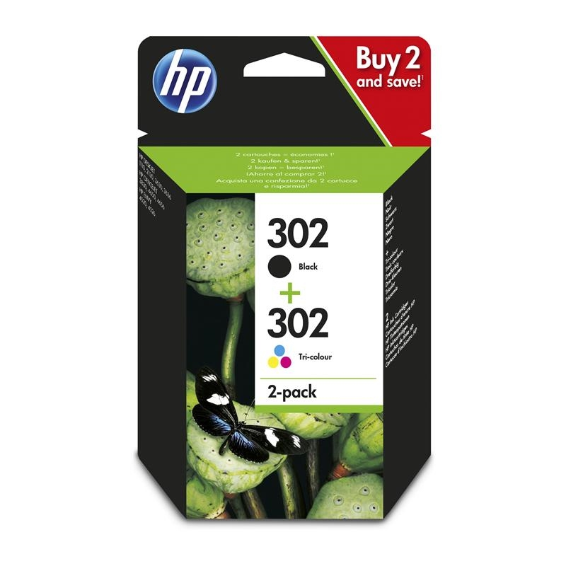 HP 302 Pack Negro+ Color X4D37AE