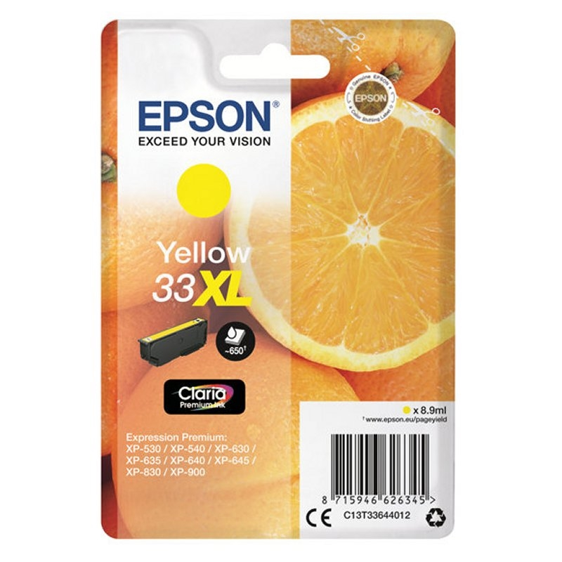 Epson Cartucho T3364XL Amarillo 8,9 ml