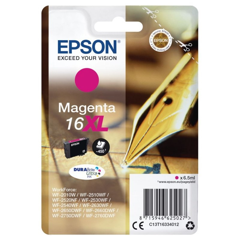 Epson Cartucho T1633XL Magenta