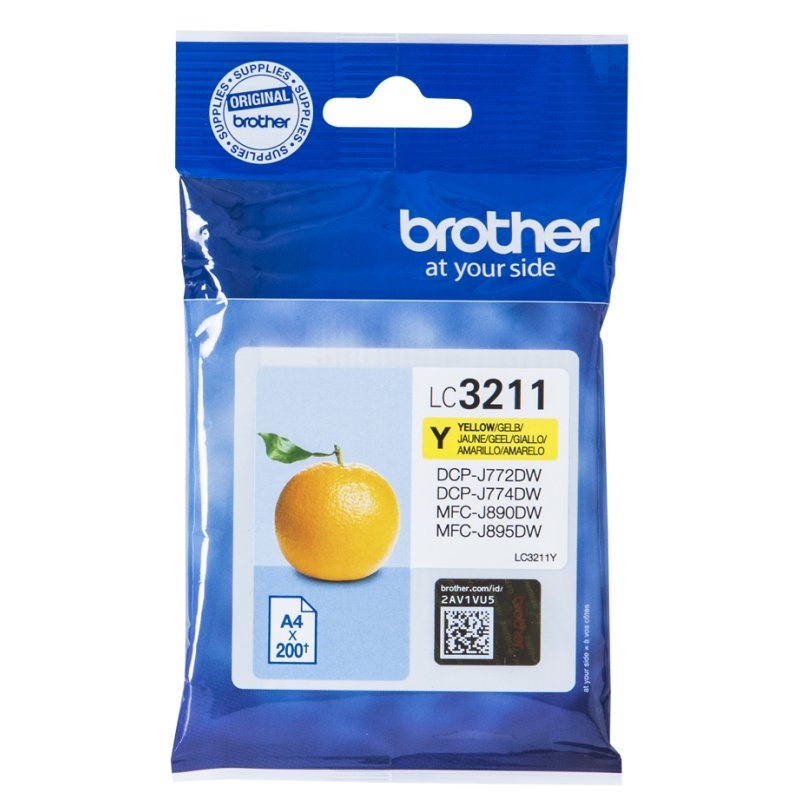 Brother Cartucho LC3211Y Yellow  Blister