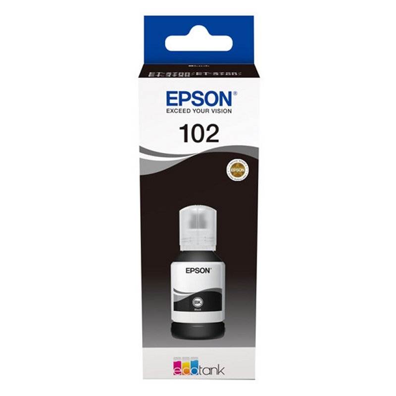 Epson Cartucho Kit Relleno 102 Negro 127ml