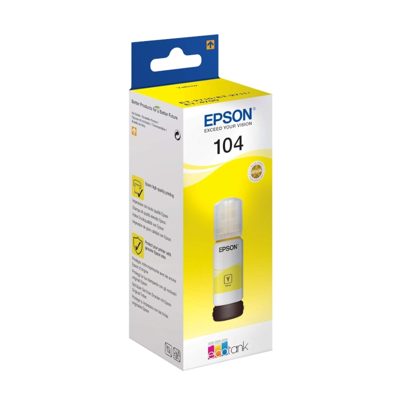 Epson Cartucho Kit Relleno 104 Amarillo  70ml