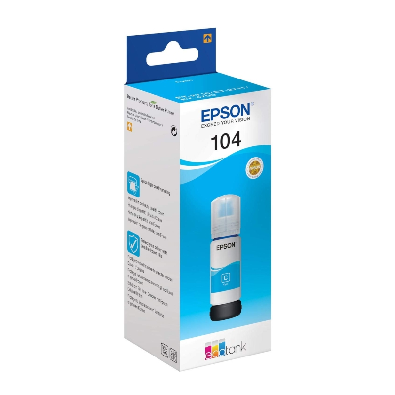 Epson Cartucho Kit Relleno 104 Cian 70ml