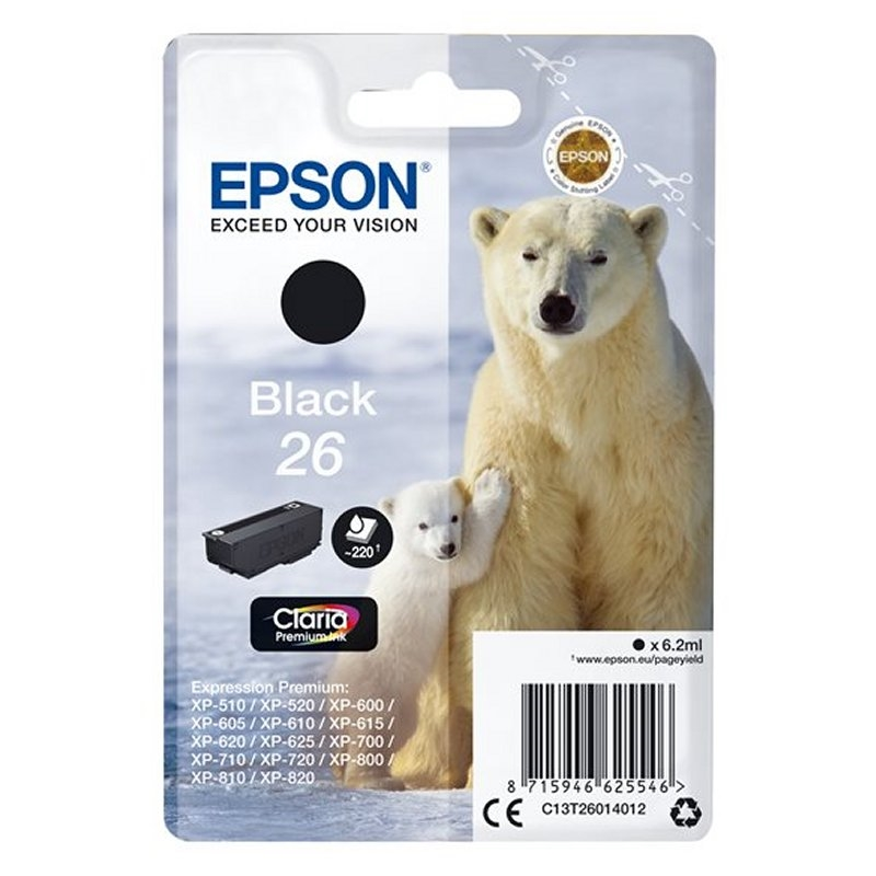 Epson Cartucho T2601 Negro 6,2 ml