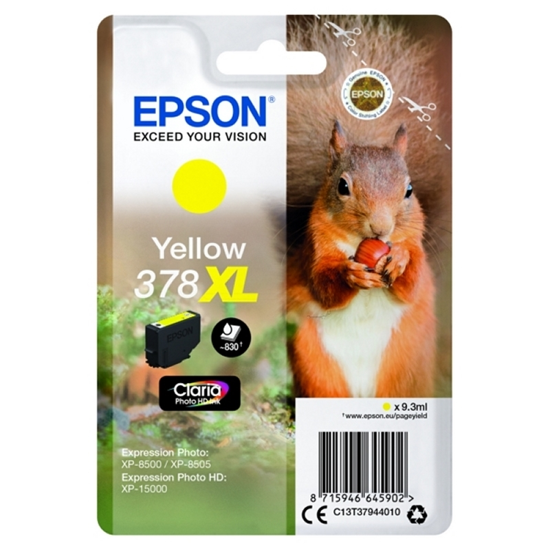 Epson Cartucho 378XL Yellow 9,3 ml