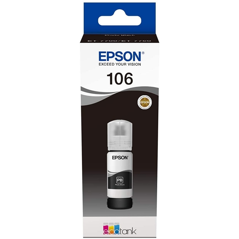 Epson Cartucho Kit Relleno 106 Negro 70ml