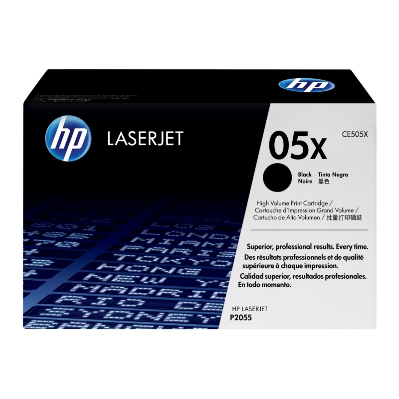 HP CE505X Tóner LaserJet HC NEGRO