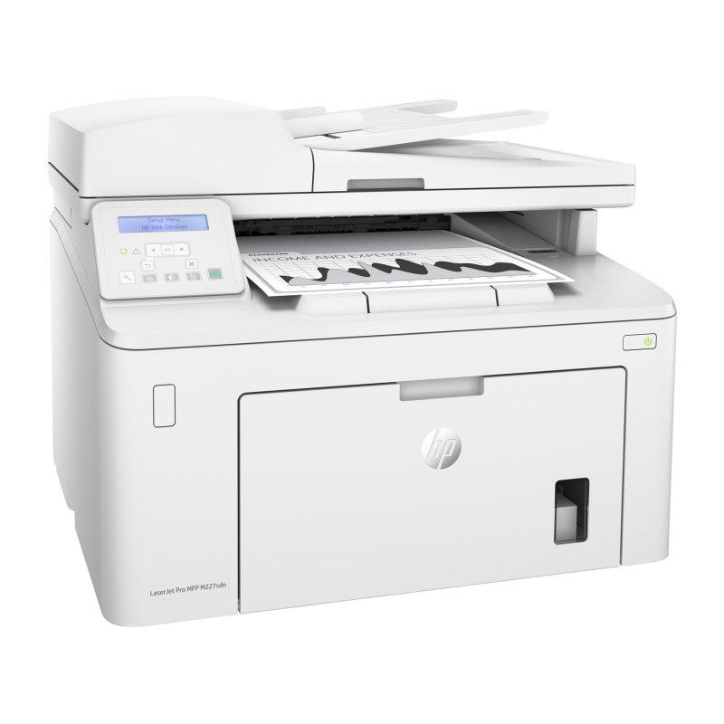 HP Multifunción LaserJet Pro MFP M227sdn Red