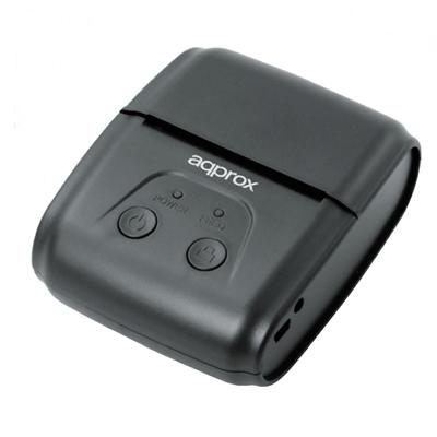 IMPRESORA DE TICKETS TRMICA PORTTIL APPROX APPPOS58PORTABLE - 70MM/S - PAPEL 58MM - CORTE MANUAL - USB/BLUETOOTH/RS232