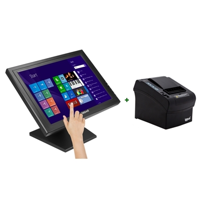 "KIT iggual Monitor Táctil 17"" + Impresora térmica"