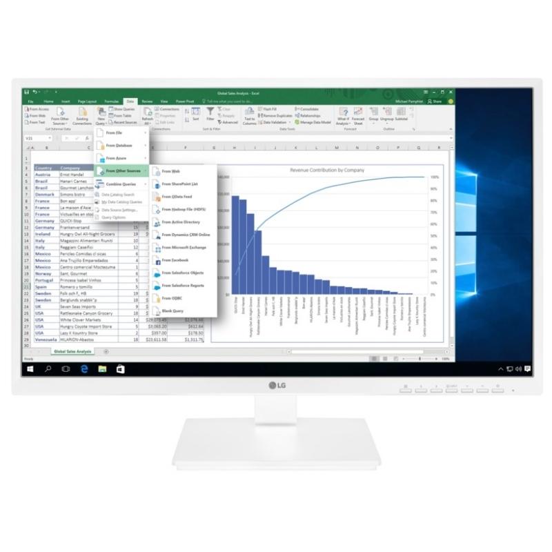 LG 24BK550Y-W Monitor 23.8