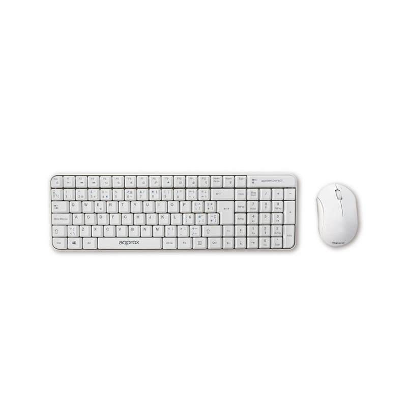 approx teclado+Ratón APPKBWCOMPACT Blanco
