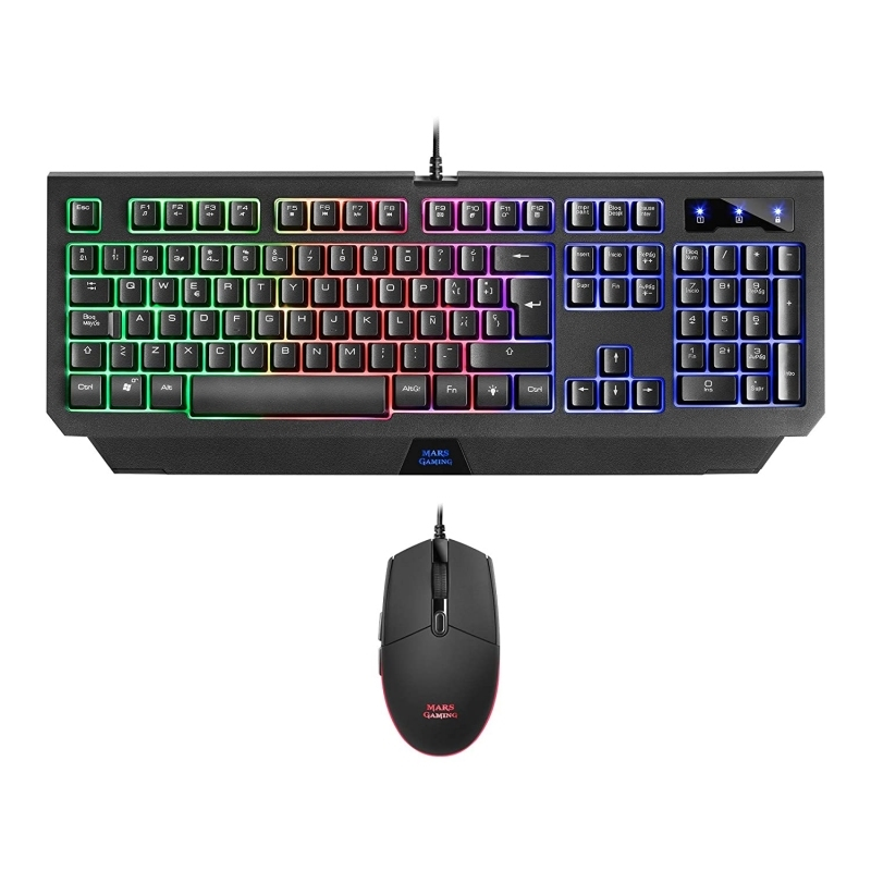 Mars Gaming MCP100 Tecl+Rat RGB H-Mec 3200DPI