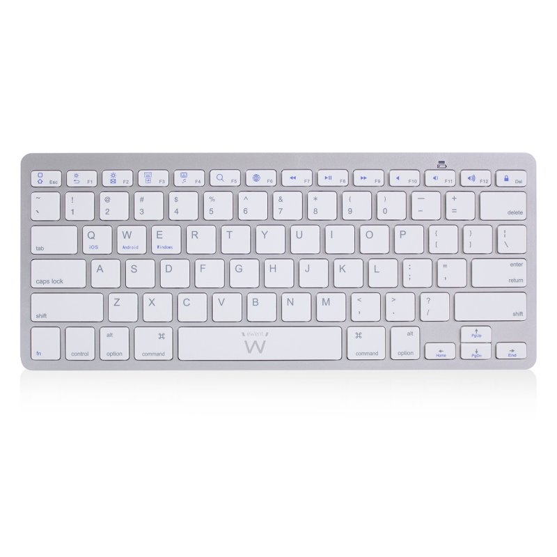 Ewent Teclado Bluetooth iOS/Android/Win Slim Plata