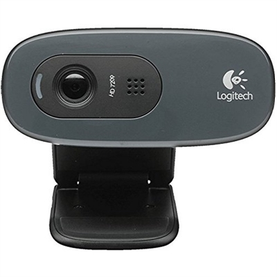 Logitech C270 WebCam HD 720p 3Mpx USB Negra