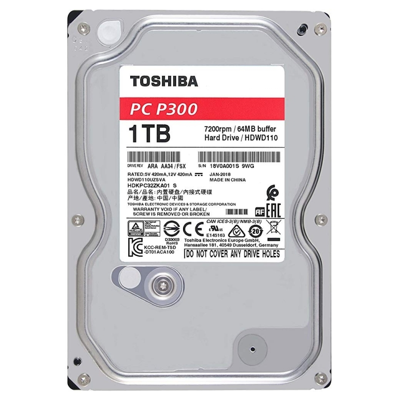 Toshiba P300 HDWD110UZSVA HD 1TB 3.5