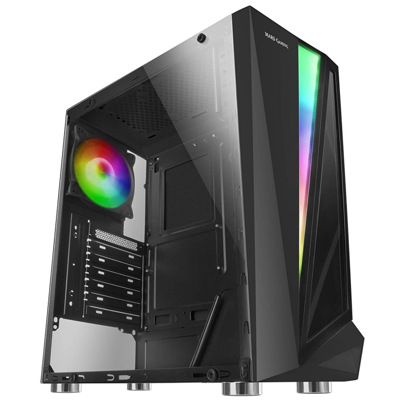 Mars Gaming Caja Atx MCL black dual glass rgb