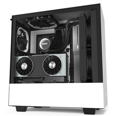 NZXT Caja SemiTorre H510i Led RGB Blanco Mate