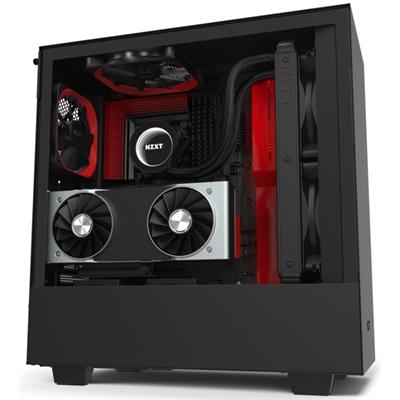 NZXT Caja SemiTorre H510i Led RGB Negro/Rojo