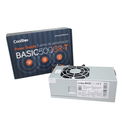 CoolBox Fuente Alim. TFX BASIC 500GR-T (CE,ROHS)
