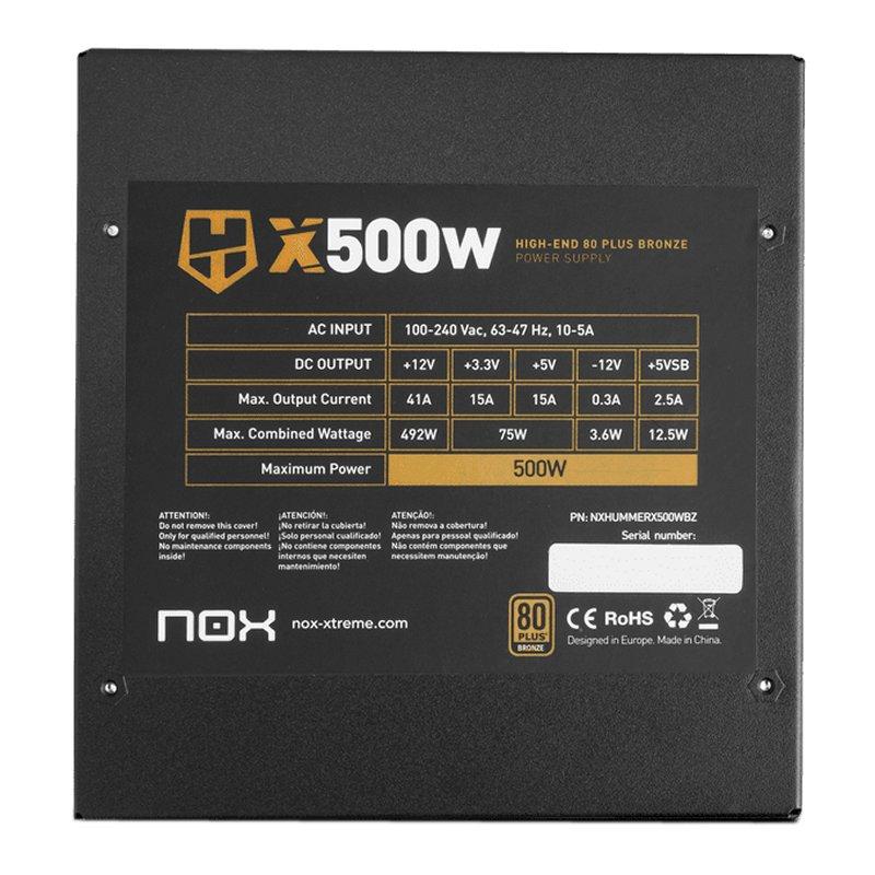 Nox Fuente HUMMER X 500W Semimodular Bronze