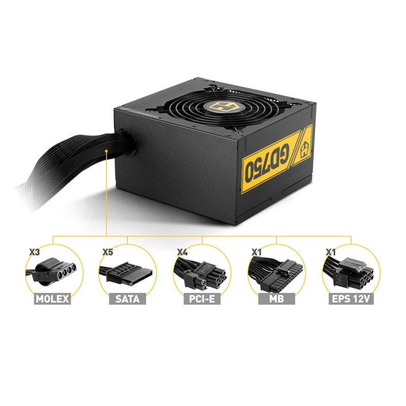 Nox Fuente Alimentación Hummer GD750 80plus GOLD