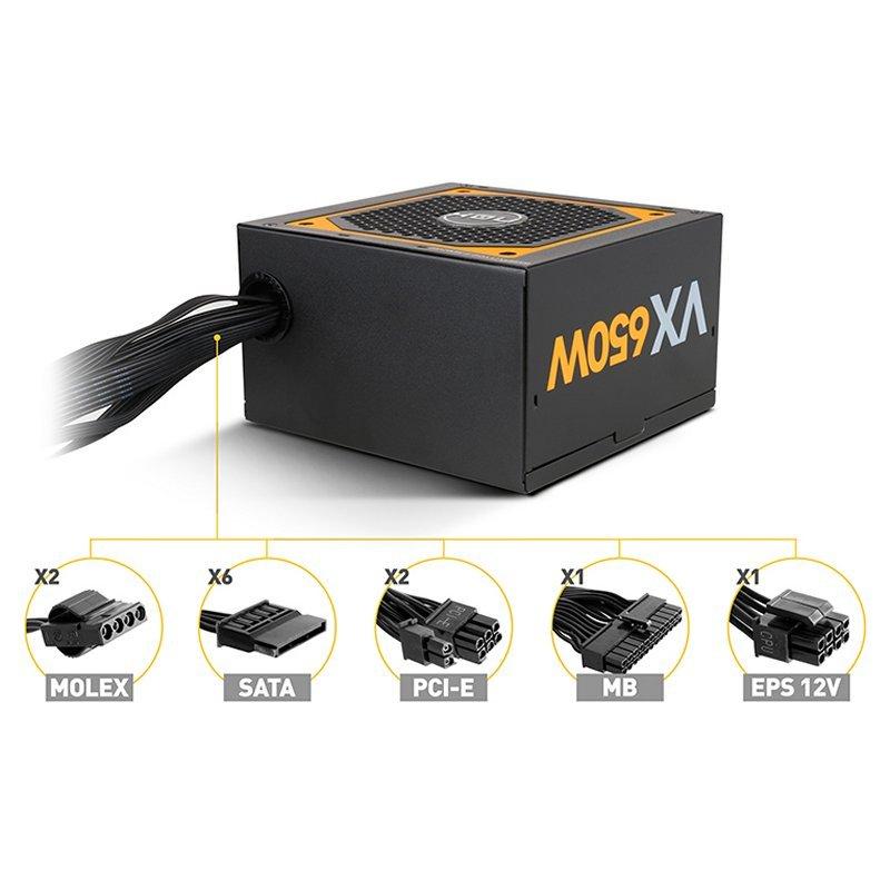 NOX Fuente Alimentación Urano VX 650W 80+ BRONZE