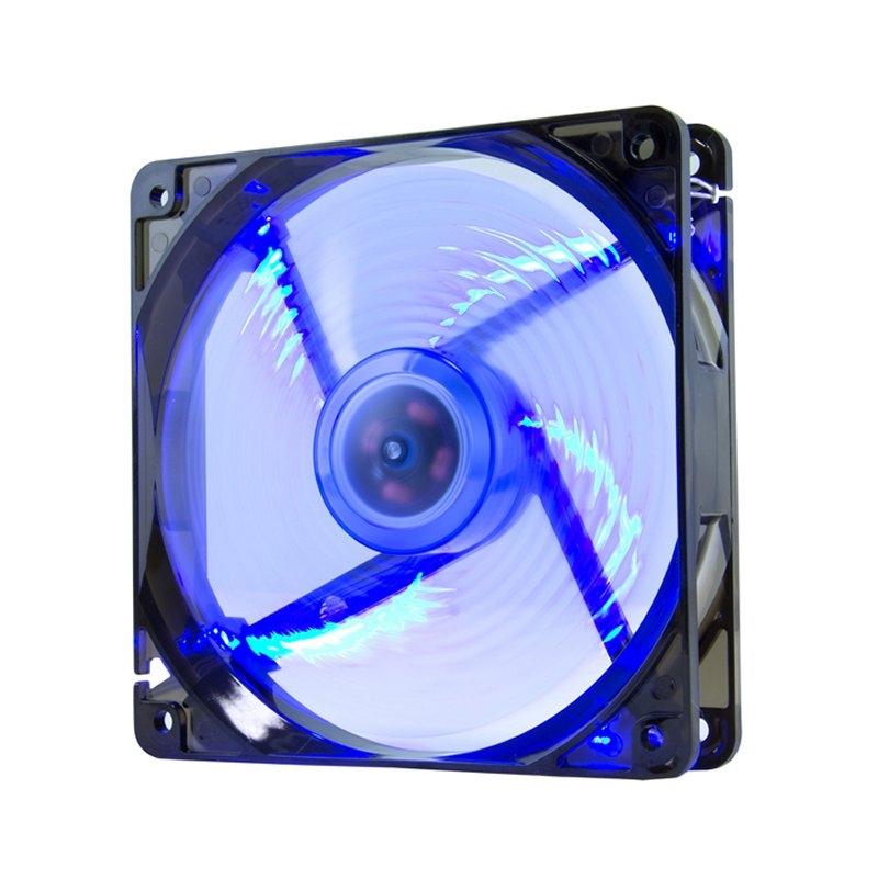 Nox Ventilador Caja Cool Fan 12cm Led Azul