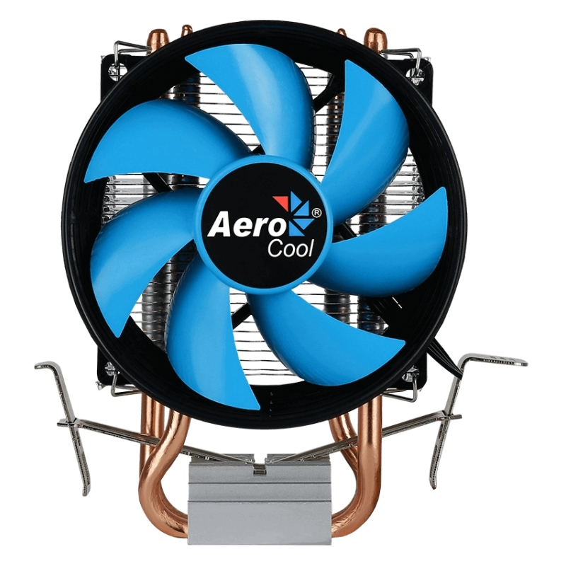 Aerocool Ventilador CPU 110w 9cm PWM 2HEATPIP Azul