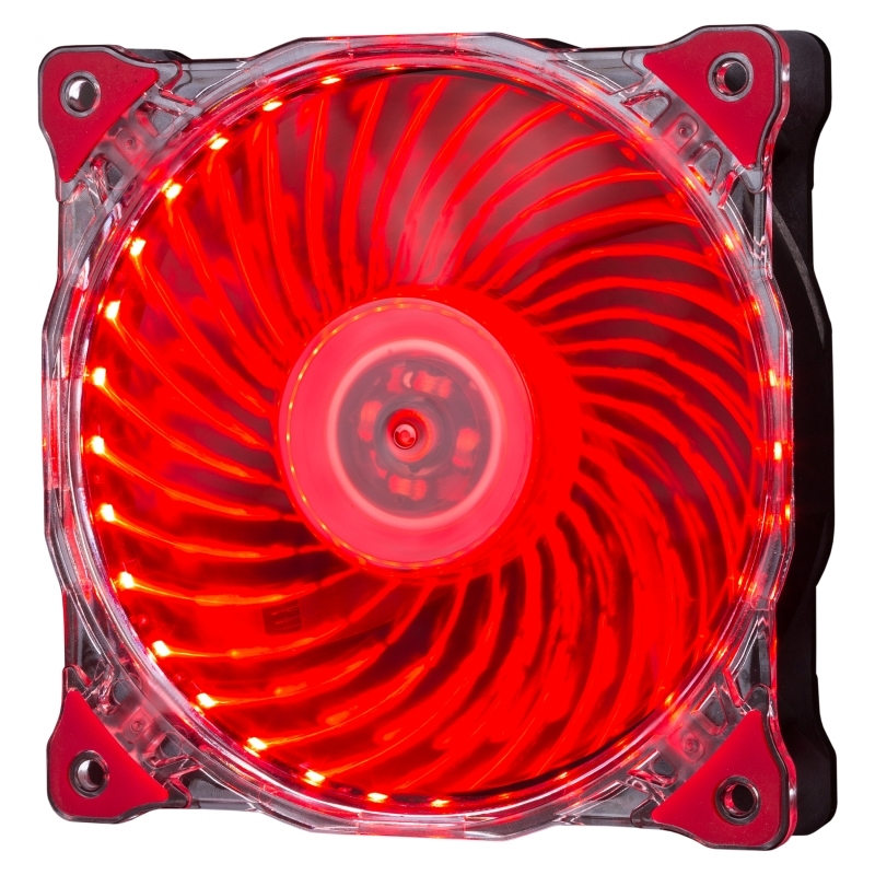 Hiditec Ventilador 33LED ROJO 120MM